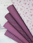 Penny Violet 100% Cotton Fabric floral dots checked star Quilting fabrics f4/139