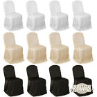 10 Wedding/Party Banquet Chair Covers - Satin - Multiple Colors