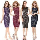 Women's Charming Stylish Lace Short Summer Casual Party Pencil Dress 05336