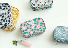 HIMORI Promenade Cotton Makeup Pouch-Cosmetics Bag Toiletry Bag Travel Organizer