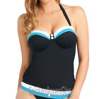 Freya Swimwear Revival Padded Bandeau Tankini Top Black 3221 NEW Select Size