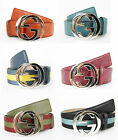 NEW Authentic GUCCI Mens Belt w/Interlocking G Buckle 114984