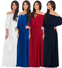 NEW Women Elegant One Shoulder 3/4 Sleeve Long Maxi Dress S M L XL 2X 3X 4X