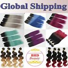 10A 3 Bundles Brazilian Hair Weft Remy Hair Ombre Hair Extension Piano T Color