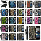 Armor Rugged Stand Holster Clip Case for LG Stylus | Camo Skin Hunters Autumn