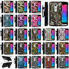 Armor Rugged Stand Holster Clip Case for LG Tribute 2 Camo Skin Hunters Autumn