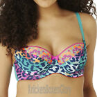Panache Cleo Lingerie Maya Balconnet Bra Teal Animal 7471 NEW Select Size