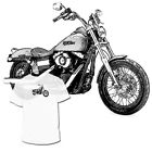 Harley Davidson Street Bob Drawing T shirt Vrod Dyna Sportster VRSC R Available