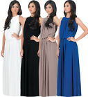 NEW Elegant Sleeveless Key-Hole Back  Cocktail Maxi Dress Plus Size M L XL 2X