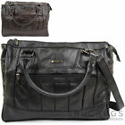 Ladies / Womens Leather Practical Handbag / Shoulder Bag with Detachable Strap