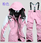 Winter Womens Warm Hood Zip Cotton Waterproof Windproof Ski Suits New 5 Colors