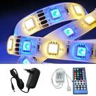 5-50m RGBW RGB+W LED Strip Strips + 40Key IR Controller + power supply