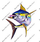 Yellowfin Tuna Fish Squid Fishing Life Vinyl iPad eBook Kindle Decal Salt Art HD