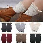 Women's SocksCrochet Knitted Lace Trim Boot Toppers Cuffs Leg Warmers Ornate Hot