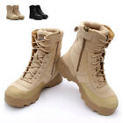 New Man Tactical Booties Leather Military Combat Boots High Top Hiking Shoes