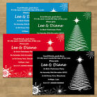 High Quality Personalised Christmas Xmas Tree Works Dinner Drinks Party Invites