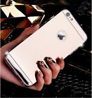 Fashion Luxury Ultra-thin Mirror Transparent TPU Case Cover For iPhone5/6/6 Plus