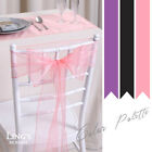 50 100pcs Organza Sashes 15x275cm Chair Cover Bow Wedding Party Venue Decoration