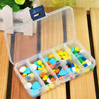 2015 HOT Adjustable 10 Compartment Plastic Storage Box Jewelry Earring Case
