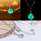 1Pc Original Green&Blue Luminous Crystal Ball Chic Pendant Fashion Necklace