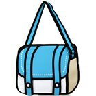 New 3d Fashion Jump Style 2d Drawing From Paper Shoulder Bag Comic Messenger Bag