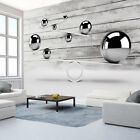 Photo Wallpaper Non-woven Art Abstraction ILLUSION Wood WHITE f-A-0333-a-a