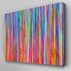 AB393 Multicoloured Abstract Stripes Canvas Wall Art Ready to Hang Picture Print