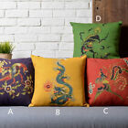 Cotton/Linen Cushion Cover Shell Throw Pillow Case Chinese Japanese dragon 1 pc