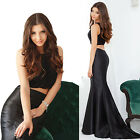 Women's Fashion Two Pieces Set Long Mermaid Evening Formal Party Dress 08434