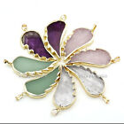 1x Angel Wing Crystal Gems Bead Healing Chakra Reiki Pendant fit Necklace DIY FB