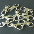 1 & 20 SILVER PLATED LOBSTER SWIVEL CLASPS KEY RING 37x16mm LEAD & NICKEL FREE