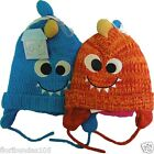 Baby Toddler Knitted Monster Hat Fully Lined 3-6, 6-12, 12-14 Moths