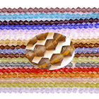 3/4/6mm Colorful Crystal Glass Faceted Bicone Loose Beads Womens Jewelry DIY