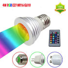 E27/GU10/MR16 4W 5W RGB Color Changing LED Spot Lights Bulb Lamp For Xmas Party