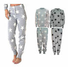NEW WOMEN STAR PRINT TRACKSUIT TOP SWEATSHIRT TROUSERS SET UK SIZE 8 10 12 14 UK