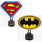 Batman / Superman Logo Shaped Neon Table Light - Official DC Comics New In Box