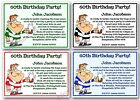 Personalised 18th 21st 30th 40th 50th 60th Birthday Party invitations x10 Rugby