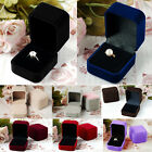 Velvet Jewelry Jewellery Ring Earring Display Storage Organizer Box Case Gift