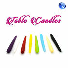 8in Table Candles Non Drip Tapered End for Dinner & Wedding Table Christmas 6.5h