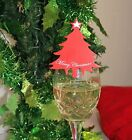 10 Christmas Tree Glass Decorations for Christmas Table Name Place Cards Xmas
