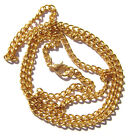 "Chain Necklace Handmade Gold plated Cable ALL SIZES 16"" to 50""  -  5 or 1 Qty"