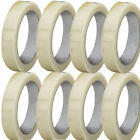 50M X 24MM Clear Packing Carton Box Shipping Tape Rolls Extra Strong Adhesive