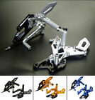 Adjustable Rearsets Rear Set Footrests Footpegs Fit 2014-2016 YAMAHA YZF R25 R3