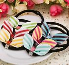 US Sweet Candy Color Girls Bow knot Hair Tie Ponytail Holder Cute Acrylic Korean