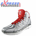 Adidas Mens D Rose 4.5 Premium Hi Top Basketball Trainers Grey *AUTHENTIC*