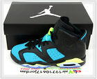2014 Nike Air Jordan 6 Retro GS Black Turbo Green Volt 543390-043 US 4~7Y