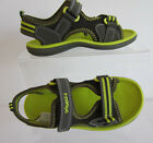 Clarks Boys PiranhaBoy Green Synthetic RipTape Sandals F Fit UK 8.5 (GO)