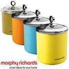 3 x Morphy Richard Large Tea Sugar Coffee Food Biscuit Cookies Jar Canister 1.7L