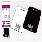 DIGITAL SCALES KITCHEN ELECTRONIC SCALE LARGE LCD 5000 G 5 KG TEMPERED GLASS NEW