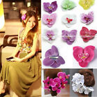1X Lady Orchid Flower Brooch Bridal Hair Pins Clips Accessory Wedding Party Gift